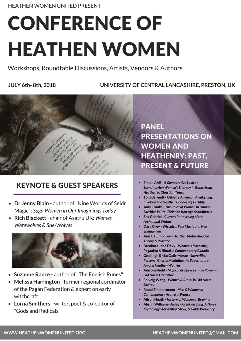 Conference of Heathen Women - flyer